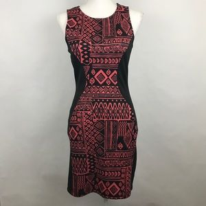 Mini Bodycon Dress Medium Aztec Sleeveless